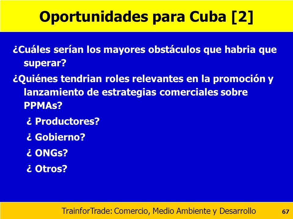 Oportunidades para Cuba [2]